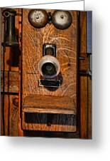 Telephone - Antique Wall Telephone Greeting Card by Lee Dos Santos