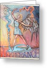 Temperance Greeting Card by Carl Geenen