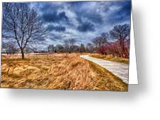 Templar Path Greeting Card by Ian Van Schepen