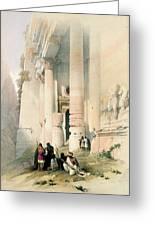 Temple Called El Khasne Greeting Card by David Roberts