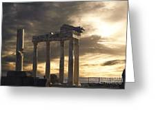 Temple Of Apollo In Side Greeting Card by Jelena Jovanovic
