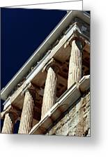 Temple Of Athena Nike Columns Greeting Card by John Rizzuto