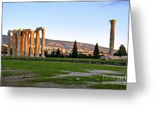 Temple Of Olympian Zeus. Athens Greeting Card by Ilan Rosen