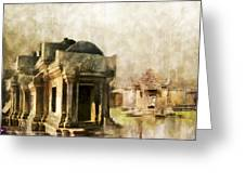 Temple Of Preah Vihear Greeting Card by Catf