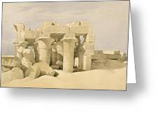 Temple of Sobek and Haroeris at Kom Ombo Greeting Card by David Roberts