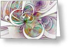 Tendrils 09 Greeting Card by Amanda Moore