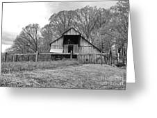 Tennessee Barn Bw Greeting Card by Chuck Kuhn