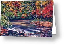 Tennessee Stream In The Fall Greeting Card by John Clark