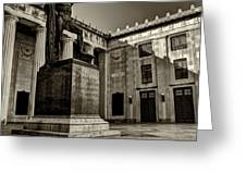 Tennessee War Memorial Black and White Greeting Card by Joshua House