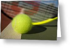 Tennis Ball And Racquet Greeting Card by Joe Belanger
