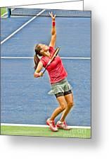 Tennis Star Jamie Hampton Greeting Card by Harold Bonacquist
