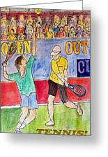 Tennis Strokes Greeting Card by Monica Engeler