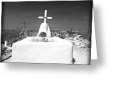 Terlingua Grave Greeting Card by Sonja Quintero