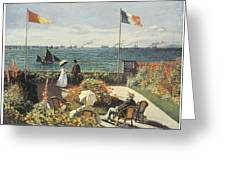 Terrace At Sainte-andresse Greeting Card by Claude Monet
