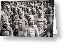 Terracotta Army Greeting Card by Adam Romanowicz