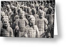 Terracotta Army Greeting Card by Adam Romanowicz