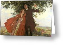 Tess Of The D'urbervilles Or The Elopement Greeting Card by William Hatherell