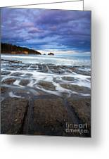 Tessellated Flow Greeting Card by Mike  Dawson
