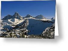 Teton Backcountry Greeting Card by Raymond Salani III