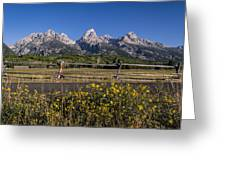 Teton Drive Greeting Card by Michael J Bauer