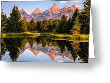 Teton Sunrise Greeting Card by Chris Austin