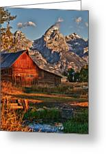 Teton Sunrise Greeting Card by Rob Wilson
