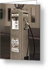 Texaco Skychief - Tokheim Gas Pump 2 Greeting Card by Mike McGlothlen