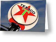 Texaco Star Globe Greeting Card by Mike McGlothlen