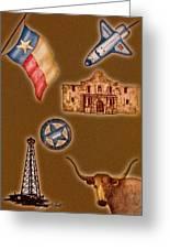 Texas Icons Poster By Sant'agata Greeting Card by Frank SantAgata