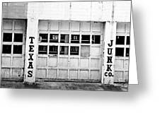 Texas Junk Co. Greeting Card by Scott Pellegrin