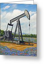 Texas Oil Well Greeting Card by Jimmie Bartlett