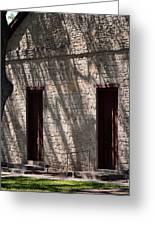 Texas Pioneer Church Doors Greeting Card by Connie Fox