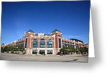 Texas Rangers Ballpark In Arlington Greeting Card by Frank Romeo