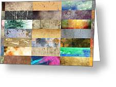 Texture Collage Greeting Card by Taylan Soyturk