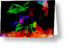 Textured Triangles With Color Greeting Card by Phil Perkins
