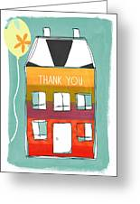 Thank You Card Greeting Card by Linda Woods