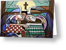 Thank You Jesus When Two Or More Are Gathered Greeting Card by Anthony Falbo