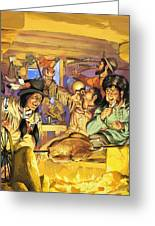 Thanksgiving Greeting Card by Angus McBride