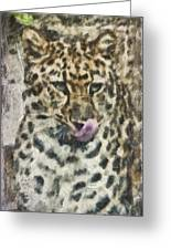 That Was Delicious Greeting Card by Trish Tritz