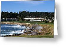 The 18th At Pebble Beach Greeting Card by Barbara Snyder