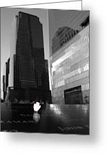 The 911 Memorial In Black And White Greeting Card by Dan Sproul