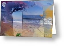 The Abstract Beach Greeting Card by Bedros Awak