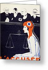 The Accused Greeting Card by Paul Iribe