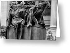 The Actor Statue Philadelphia Greeting Card by Bill Cannon