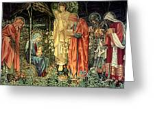 The Adoration Of The Kings Greeting Card by Bradley Skeen