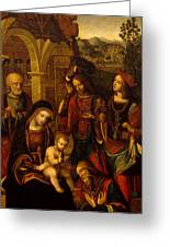 The Adoration Of The Kings Greeting Card by Neapolitan School