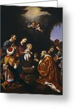 The Adoration Of The Magi Greeting Card by Carlo Dolci