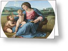 The Alba Madonna Greeting Card by Raffaello Sanzio of Urbino