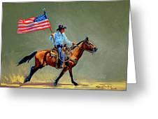 The All American Cowboy Greeting Card by Randy Follis