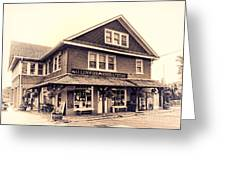 The Allenwood General Store Greeting Card by Olivier Le Queinec